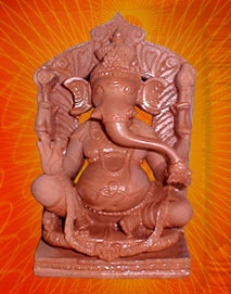 Ganeshji with red Stone