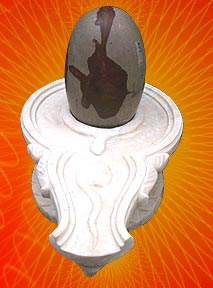 White yoni with Narbshwer Lingam